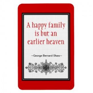 Motivational Quote Magnet :Happy Family premiumfleximagnet