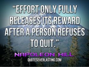 Person Refuses Quit Credited