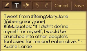 Being Mary Jane quotes