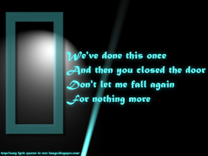 Don't Say You Love Me - The Corrs Song Lyric Quote in Text Image