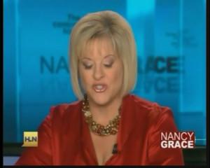 Nancy Grace Blue Satin Blouse