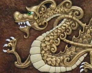 The Dragon Of Awakening Enlightenme Nt Cast Paper Fantasy Art