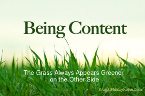Being Content, The Grass Always Appears Greener on the Other Side