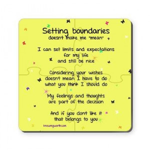 Setting Boundaries doesn't make me mean