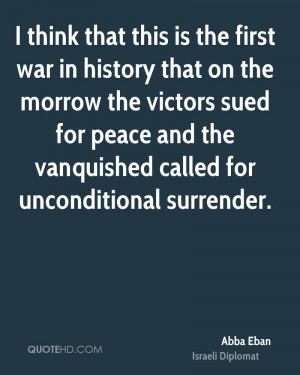 Abba Eban Peace Quotes