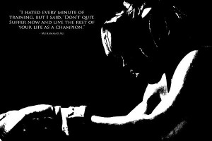 Muhammad Ali Training Quote 3 Print by Brian Reaves