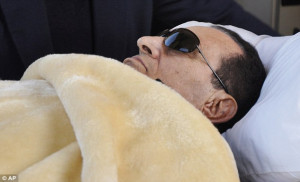 Health crisis: Former Egyptian President Hosni Mubarak is wheeled into ...
