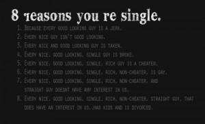 reasons why i am single