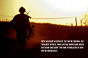Military - Soldier Statement Quote Wallpaper