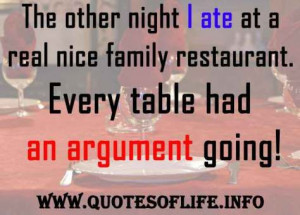 argument dining funny quotes george carlin restaurant family