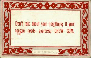 Chew Gum Phrases & Sayings