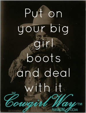 deal with it the cowgirl way