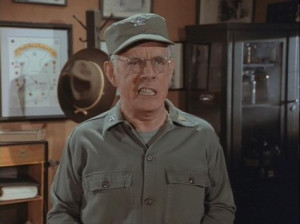 ... Potter (Harry Morgan) on the military comedy M*A*S*H/CBS/1972-83