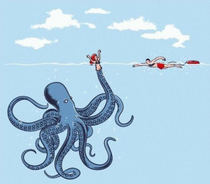 Giant Octopus ~ Motivational funny pictures love inspirational quotes ...