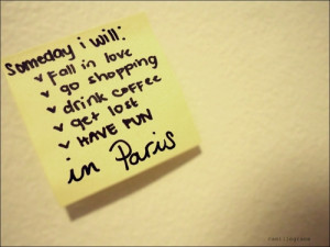 Someday I Will Fall In Love In Paris
