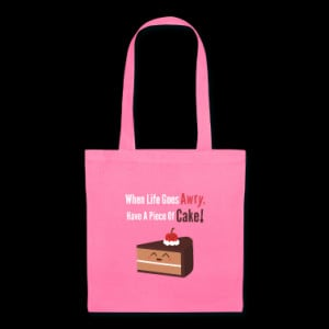 cute piece of chocolate cake with funny quote Bags & backpacks