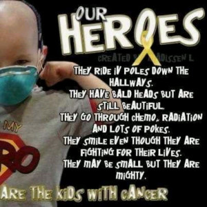 These kids are TRUE heroes! Praying for a cure sweet Destiny! Keep ...