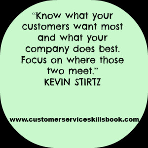 Inspirational Customer Service Quote – Kevin Stirtz