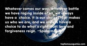 Favorite Spiderman 3 Quotes