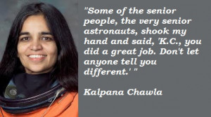 KALPANA CHAWLA QUOTES IN ENGLISH