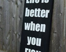 Life is better when you FISH, wood sign, wooden sign, Fishing quote ...