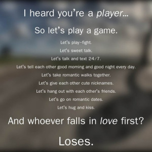 player # player quotes # love # fall in love # in love # high school ...