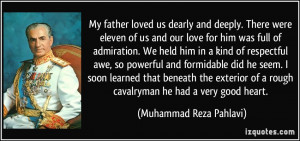 My father loved us dearly and deeply. There were eleven of us and our ...