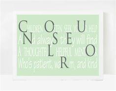 Guidance Counselor Gift, Teacher Gift, School Poems 8x10 via Etsy