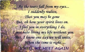 Until We Meet Again Quotes It's okay to love one man
