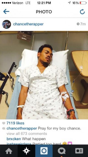 Chance The Rapper In Hospital 2 Hours Before Coachella Performance?