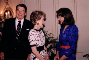 ... visit from the President and First Lady, Ronald and Nancy Reagan