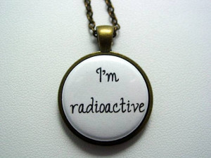 Radioactive Necklace Choice of Antique Bronze or Antique Silver ...