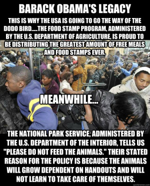 ... of free meals and food stamps ever. Meanwhile Obama Food Stamps N