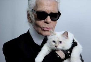 Karl Lagerfeld's on his cat, Choupette: