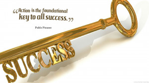 Beautiful success quotes wallpaper with success key in HD