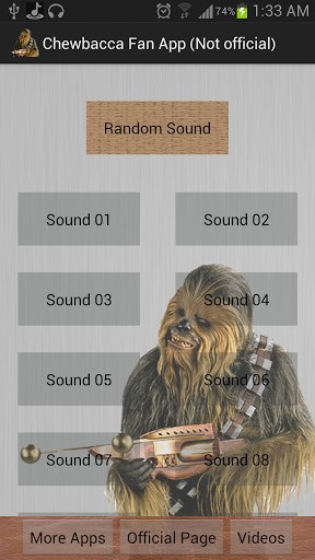View bigger - Chewbacca Sounds & Quotes for Android screenshot