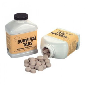 Survival tabs are ultra high calorie food tablets that provide all ...