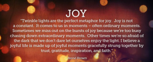 Gratitude and joy quote by Brené Brown
