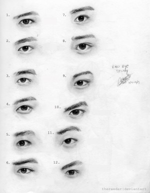exo eye study by theraedar traditional art drawings other 2013 2015 ...