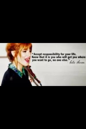Bella Thorne quote}