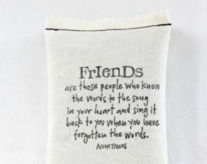 Quote Lavender Sachet, Best Friend Shower Hostess Gift Sentimental ...