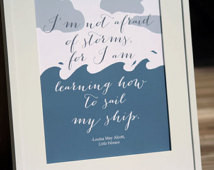 ... Louisa May Alcott Inspirational Quote Ocean Sea Sailing Home Decor