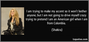 ... am not going to drive myself crazy trying to pretend I am an American