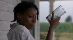 The Color Puirple - Celie contemplates putting urine in the glass.