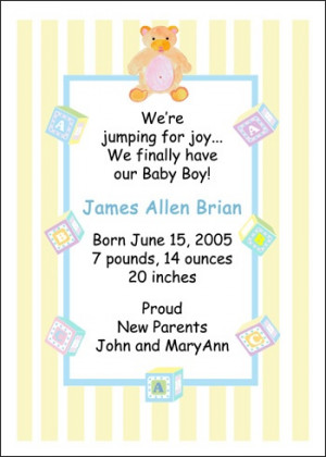 Baby Boy Card Sayings Pictures