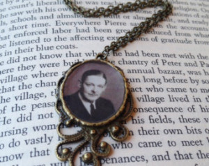 Eliot Brass Pendant Necklace