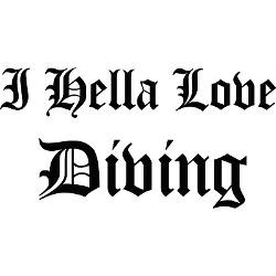 hella_love_diving_bumper_bumper_sticker.jpg?color=White&height=250 ...