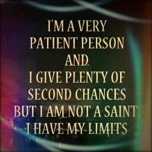 No more chances.