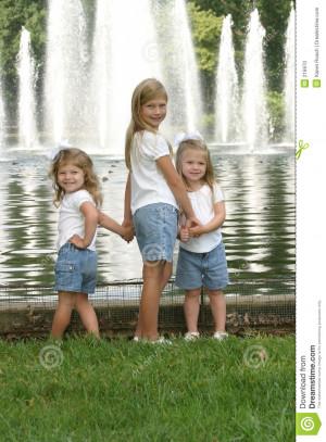 Sisters Holding Hands Sisters holding hands