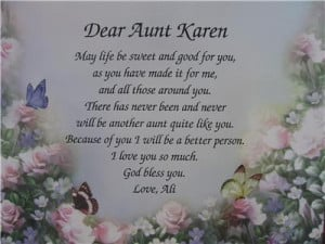: Aunt Poems , Being An Aunt Quotes , Niece Quotes From Aunt , Aunt ...